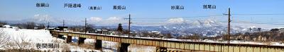 山ノ内町-scenery-北信五岳のパノラマ写真を作ってみました