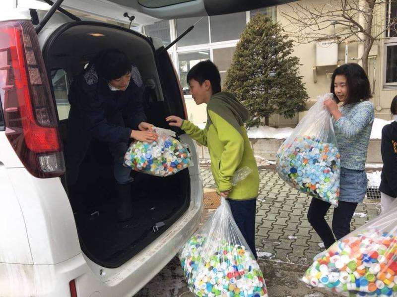 山ノ内町社会福祉協議会, 小学校, 保育園-kids-保育園の豆まきと小学校でペットボトルキャップ収集