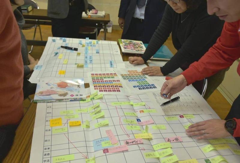 山ノ内町中学校, ユネスコエコパーク, ESD-kids-ESD研修会 先生たちによるカレンダー作り