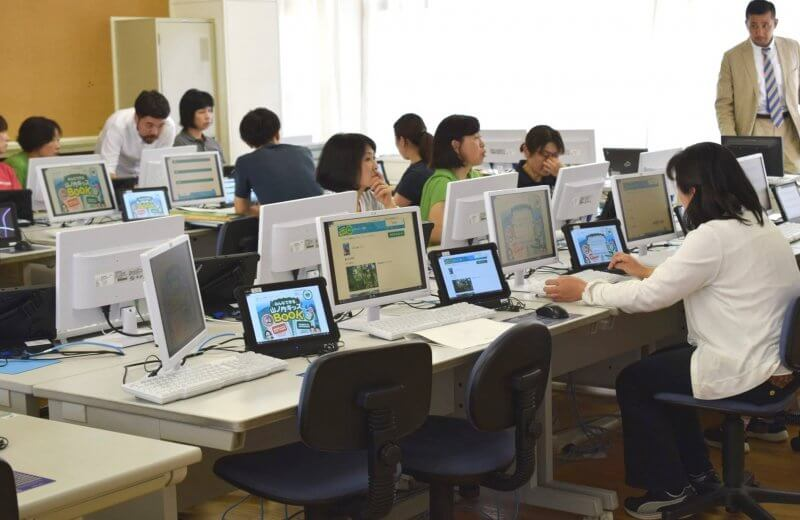 山ノ内町ユネスコエコパーク-kids, localwork-環境学習タブレットの活用