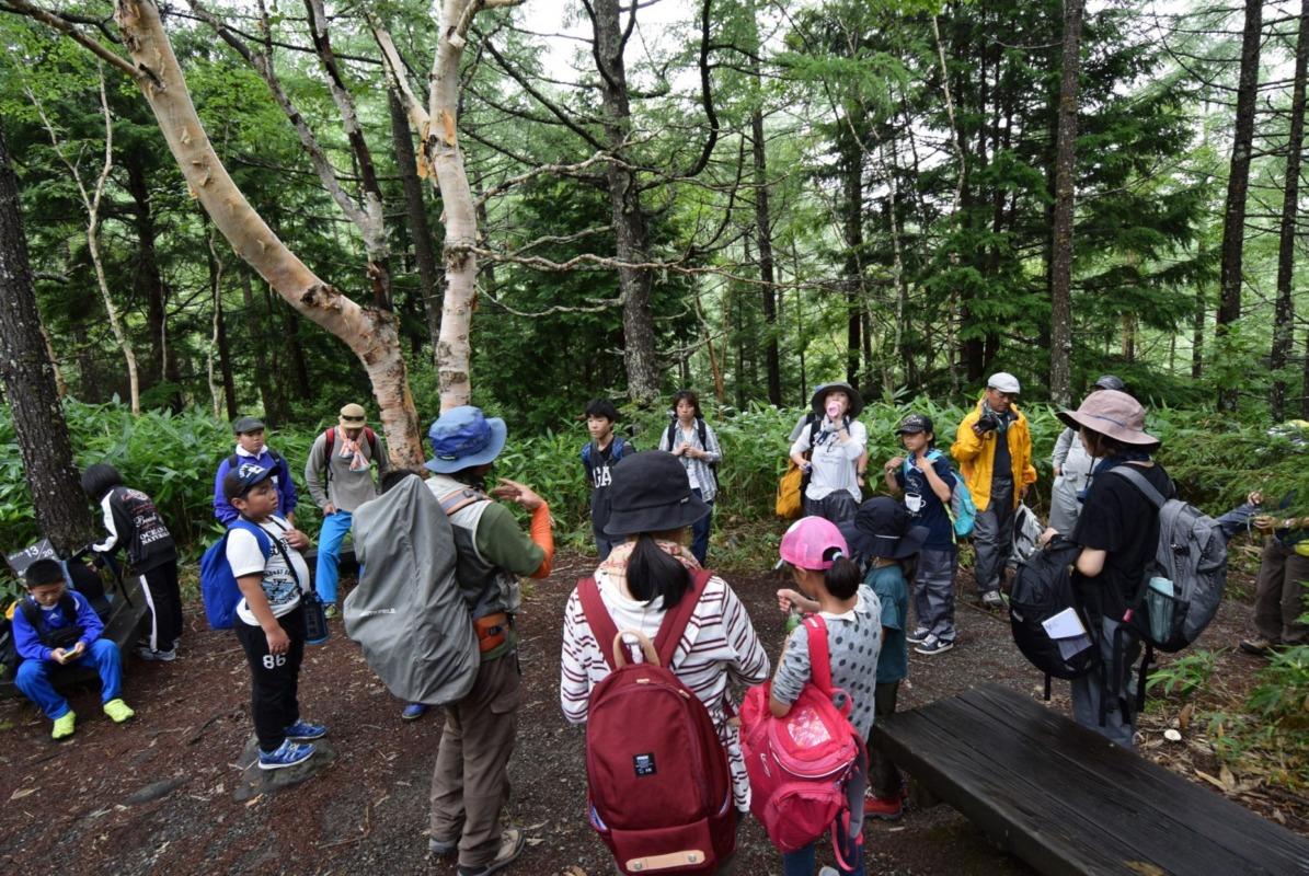 山ノ内町ユネスコエコパーク-kids-「身近な自然を冒険しよう」 高山村と山ノ内町の親子が参加