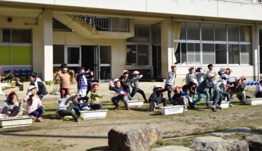 東小学校1・2年生どんぐり播種