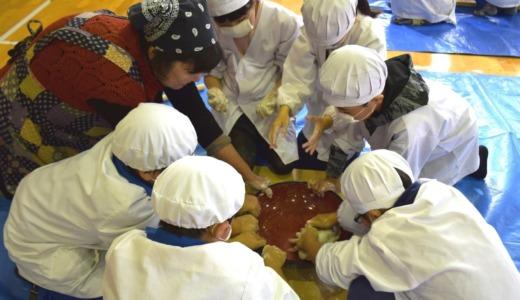 小学3年生の須賀川そば体験